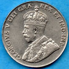 Canada 1927 5 Cents Five Cent Nickel Coin - EF