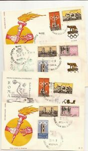 ITALY- 1960 ROME OLYMPICS-Covers(13)/(2)cards ( all different/similar)