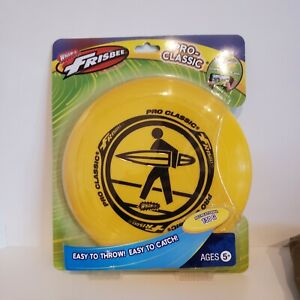 WHAM-O Frisbee Pro-Classic 130g U-Flex Yellow Surfer Disc Official New Sealed