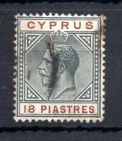 Cyprus KGV 1912-15 18pi good used WMK CA #83 WS13475