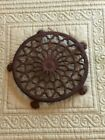 Vintage Victorian 5 Paw Footed Cast Iron Trivet