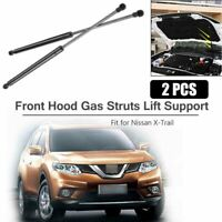 2Pcs Front Hood Lift Support Struts Shocks Gas Springs Damper For Nissan X-trail