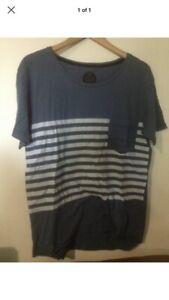 Vanguard Blue Stripe T Shirt Size  Medium G76