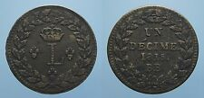FRANCIA RARO DECIME 1815 BB STRASBURGO LUIGI XVIII SPL