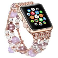 Bling Girl Agate Beads Strap Bracelet Band for Apple Watch iWatch 3/2/1 42/38mm