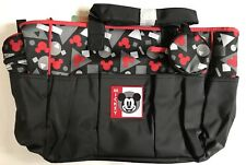Diaper Bag + Bottle & Pacifier Tote Mickey Mouse Black Red Shapes Nwt