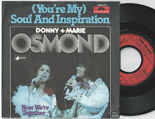 DONNY & MARIE OSMOND (You're My) Soul And Inspiration German 45PS 1977
