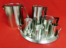 MASTERPIECE by ARNE JACOBSEN -STELTON STAINLESS 10 PC. TEA & COFFEE SERVICE