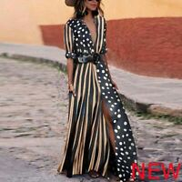 Evening Half Sleeve Tunic Dresses Dress Party Casual V Neck Maxi Loose Cocktail