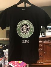 starbucks t shirt Petite Medium Black Beijing