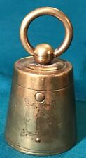 Imperial Russian 19th Century Brass Traveling Weight Inkwell c.1870 #1