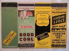 Chicago Illinois coal coke fuel oil briquets low #s matchcovers matchbooks