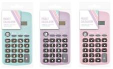 Pastel Pocket Calculator Handy Size 8 Digit Display Battery Operated New - PTPC