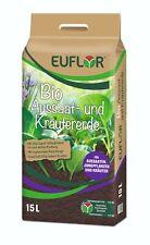 Euflor BIO Aussaaterde und Kräutererde 15 Liter