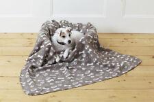 Beige Novelty Dog Design Fleece Blanket 120cms x 120cms