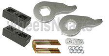 "Lift Kit Chevy 1992 - 99 K1500 Forged Torsion Keys & 2"" Cast Steel Blocks 6 Lug"
