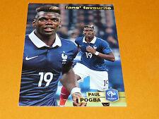 PAUL POGBA JUVENTUS FRANCE 2015 PANINI FAMILY FOOTBALL UEFA EURO 2016