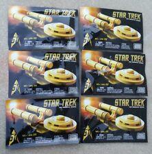 SDCC 2016 Excl.lot of 6 gold Star Trek Enterprise Mega Blocks the classic series