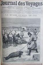 JOURNAL DES VOYAGES 955 de 1895 RUSSIE LAPONIE LA CHASSE AUX PHOQUES