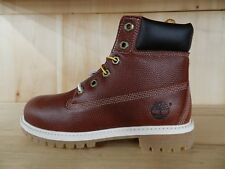 """TIMBERLAND JUNIOR'S 6 INCH 6"""" BOOT BROWN FOOTBALL BOOTS KIDS GS SIZE 4-7 Y 19917"""