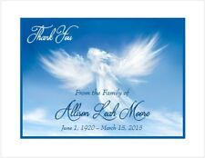 12 Sympathy Personalized Thank You Cards ~ Angel Cloud