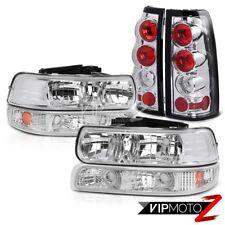 1999-2002 Chevrolet Silverado 1500 2500 HD Chrome Headlight Bumper Tail Lamp SET