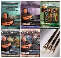 Painting Instruction 5 DVDs (9.5 hrs) plus Michael Lang Artist Master Brush set