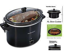 10 Quart Large Slow Cooker Crock Pot Stoneware Programmable Kitchen Appliance