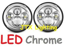 """JTX 7"""" LED Headlights Plain Chrome without Halo Datsun 140z 240z 260z 1600"""