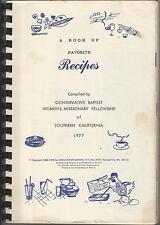 Fav Recipes CONSERVATIVE BAPTIST WOMEN's Missionary Fellowship Sou Cal 1977