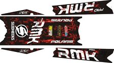 POLARIS RUSH PRO RMK 144 155 163 STAR TOP & TUNNEL DECAL STICKER black red sled