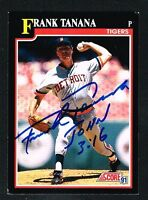 Frank Tanana #328 signed autograph auto 1991 Score Baseball Trading Card