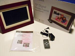 """Insignia - 10"""" Digital Photo Frame - Espresso - NS-DPF10WW-16 New Open Box"""