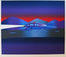 Jean Michel Folon Night Road Limited Edition Print Hand Signed 19/20 With Title