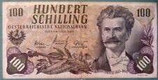 AUSTRIA 100 SHILLING NOTE ISSUED 01.07. 1960 , P 138, STRAUSS