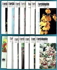 Lot de 11 numéros L'Orchidophile, 44 à 54 + 2 suppléments, Orchidées, Vacherot