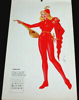 VARGAS FEBRUARY 1942 PINUP CALENDAR PAGE, PHIL STACK VERSE