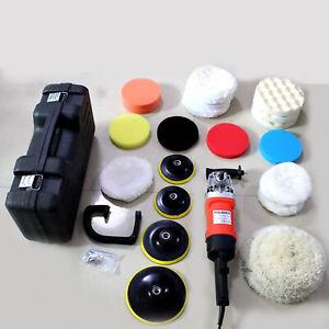 Electric Polisher Car Sander Machine Kit Buffer Pad Sponge Polishing Waxer Tool