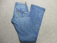 "WOMENS LEVI SUPERLOW BOOTCUT CUSTOMISED STRETCH JEANS SIZE 7 33""L / REF K3484"