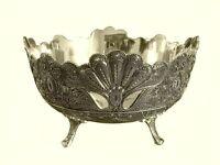 Silver Plated Fruit Bowl Ornate Centerpiece Antique Vintage Gift
