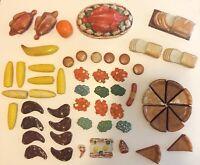Lot Vintage 1960's Plastic Food Toy Play Pretend Pieces Retro Kid's Kitchen
