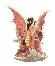 New Protector Of The Crystal Caves Coll. The Ruby Hollow Red Dragon Statue