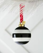 "New KATE SPADE LENOX Deck The Halls Stripe Christmas Ornament 2.5"""