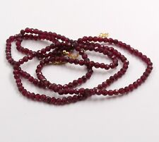Garnet Beads Handmade Necklace Solid 925 Sterling Silver Necklace Jewelry