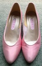 Katz Pink Satin Bridesmaid Court Shoes UK Size 3.5