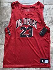 Nike Air Jordan Dna Mesh Tank Top Large Red Mens Jersey Chicago Bulls Vintage Xi