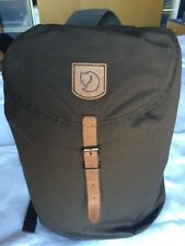 Fjallraven Greenland backpack small dark olive USED VGC free P&P RRP new £85