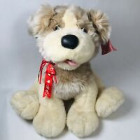 Vintage 1999 Valentine's Day Jumbo Puppy Dog Plush Stuffed Animal New Card Tag