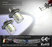 Cree LED H7 Xenon White DRL Daytime Running Lights Fog Bulb Replacement 12V 24V