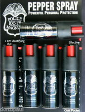5 PACK Police Magnum mace pepper spray 1/2oz unit safety lock defense security